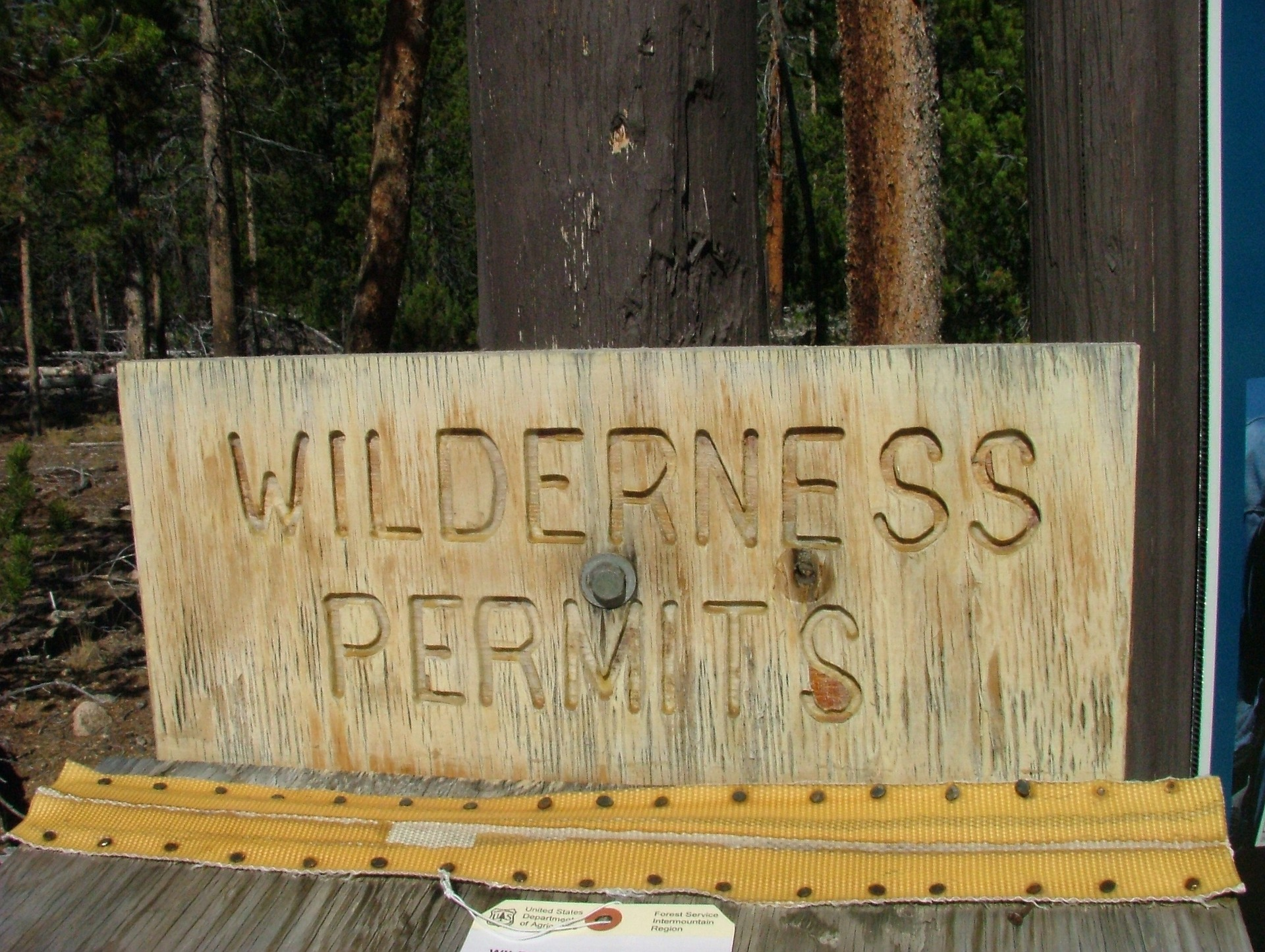 Wilderness Permits Sign