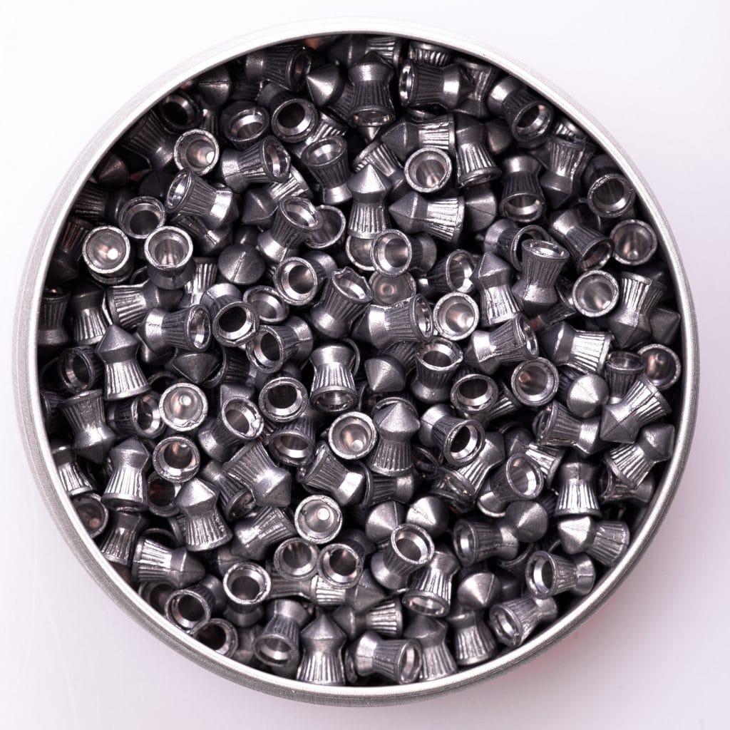 Silver air gun pellets