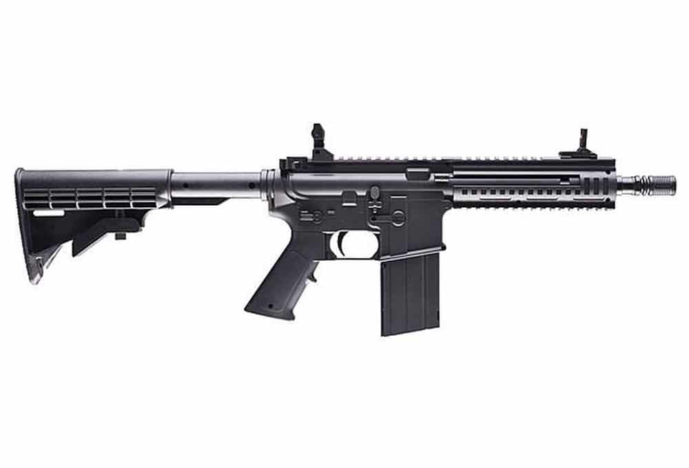 Black tactical air rifle