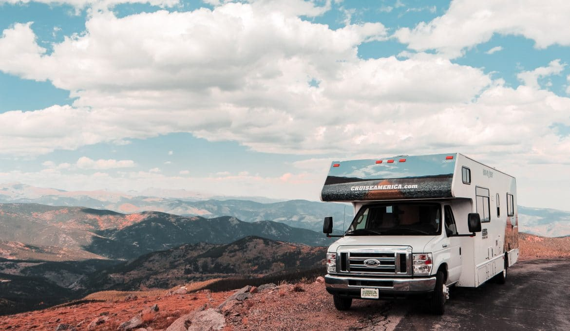 RV with Mountainscape