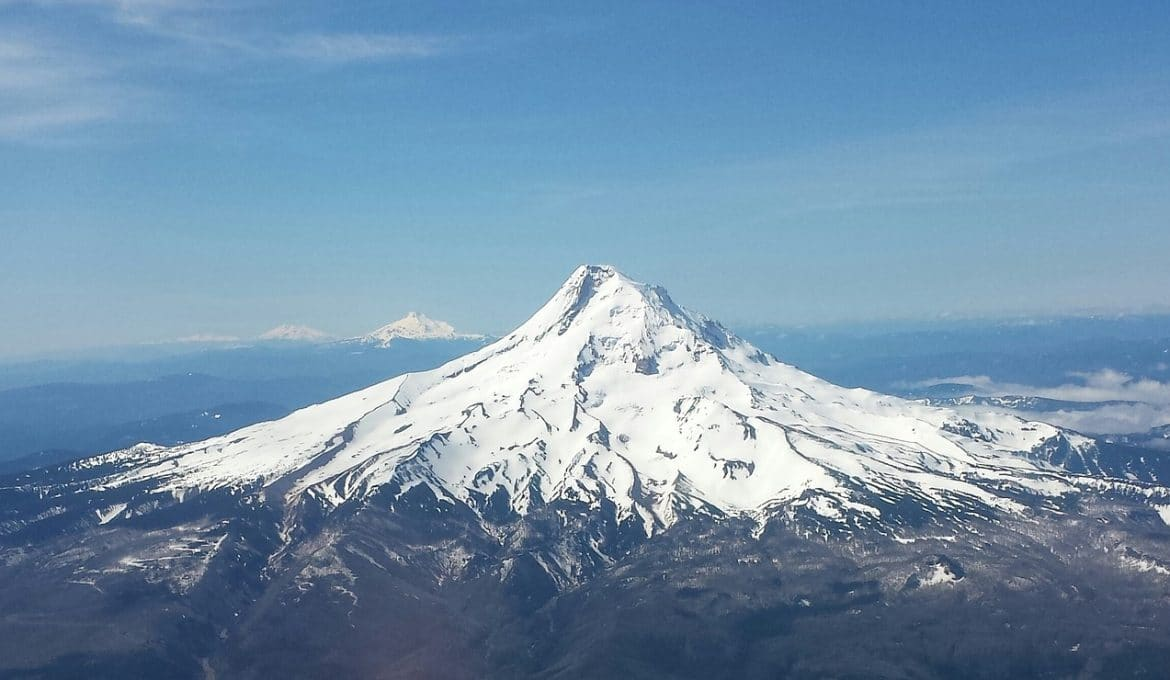 Image of Mount Hood from afar.