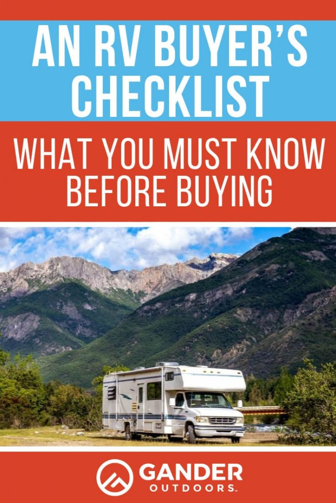 An RV buyer's checklist - what you must know before buying