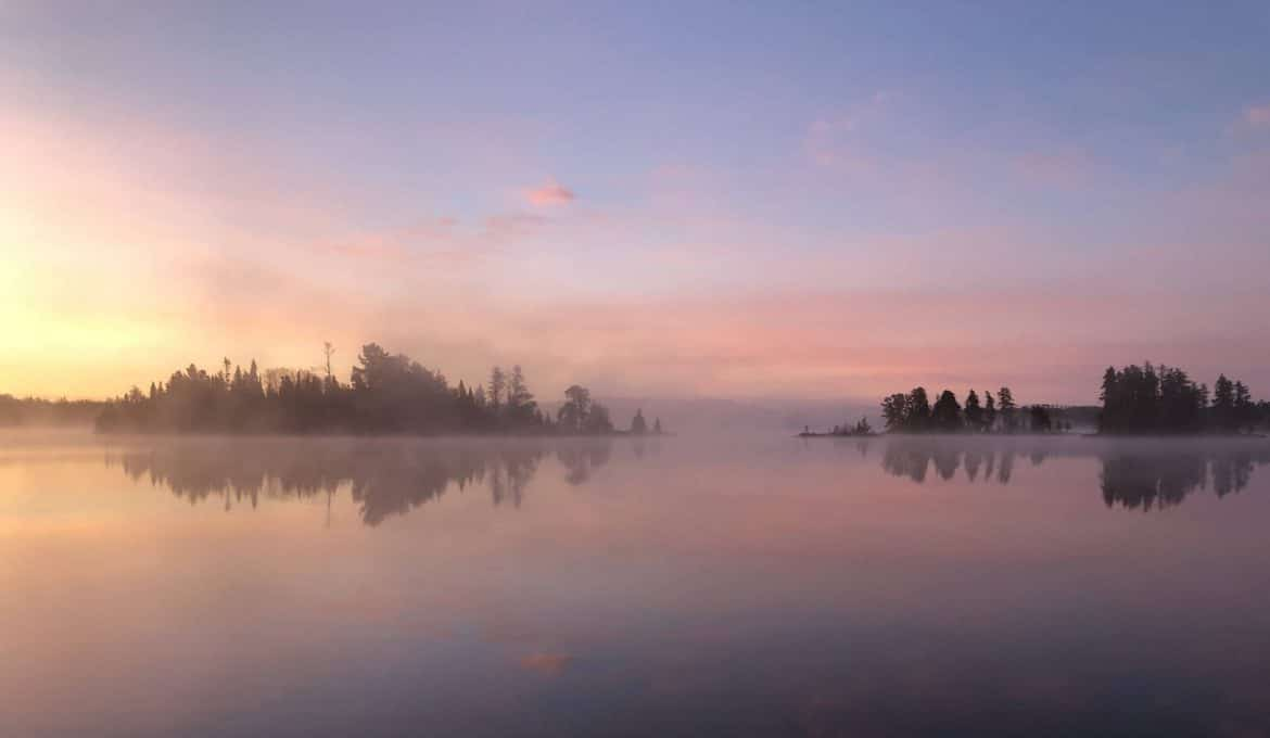Sunrise in the Boundary Waters Canoe Area