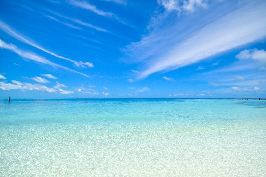 A beautiful, calm ocean scene