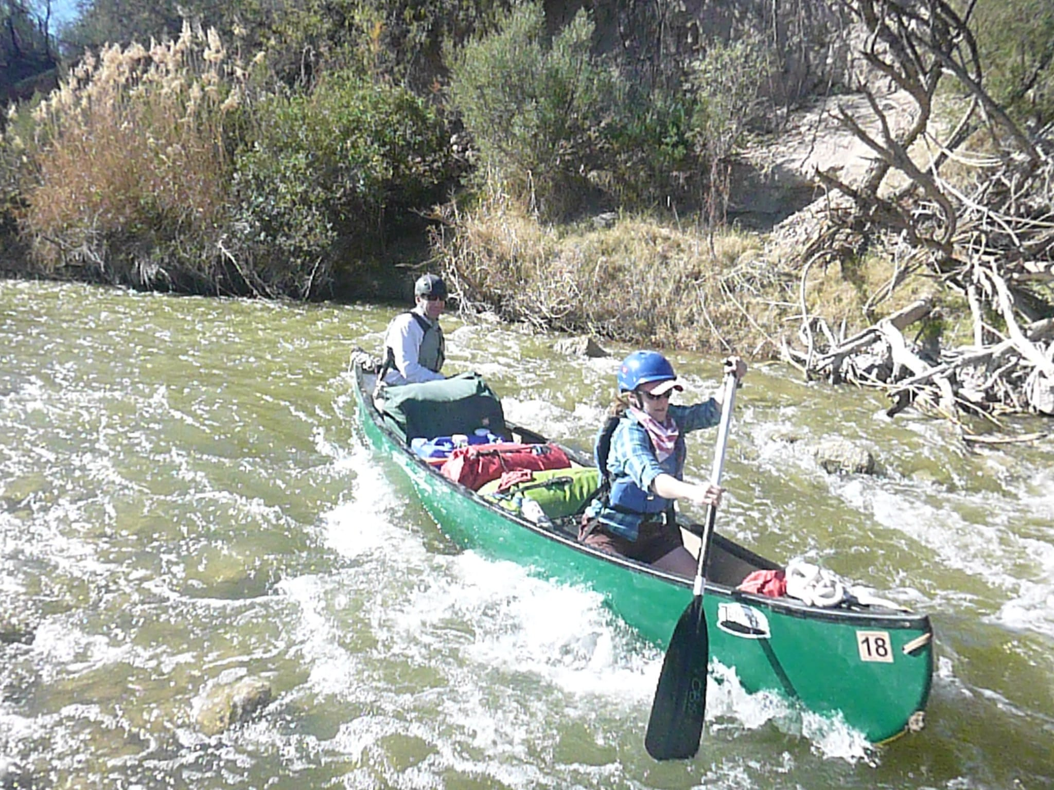 Canoe in Whitewater