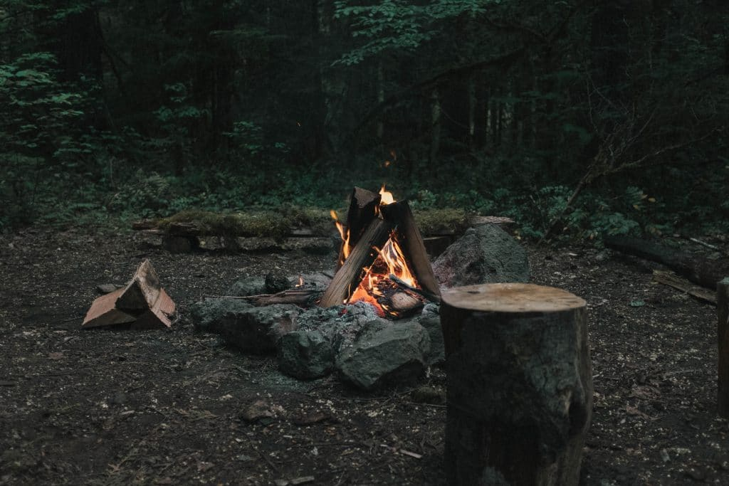 Campfires can help deter mosquitoes