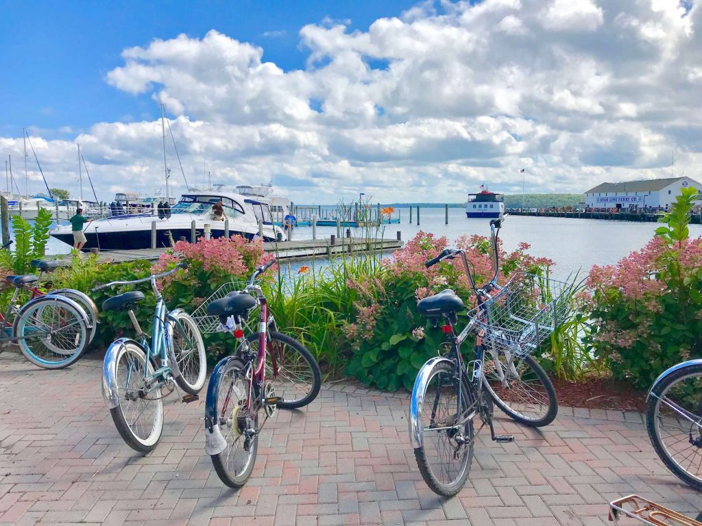 Bicycling on Mackinac Island