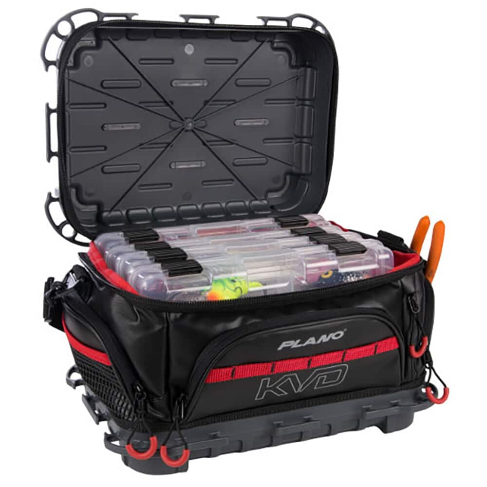 Red and black Plano soft tackle bag