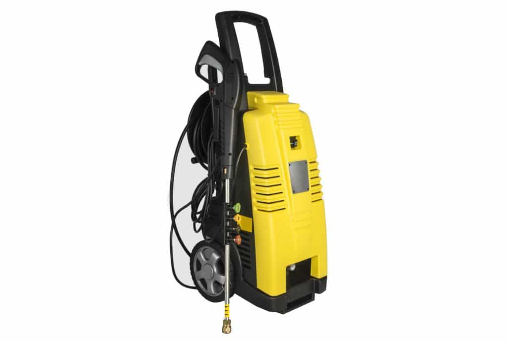Portable pressure washer isolated.