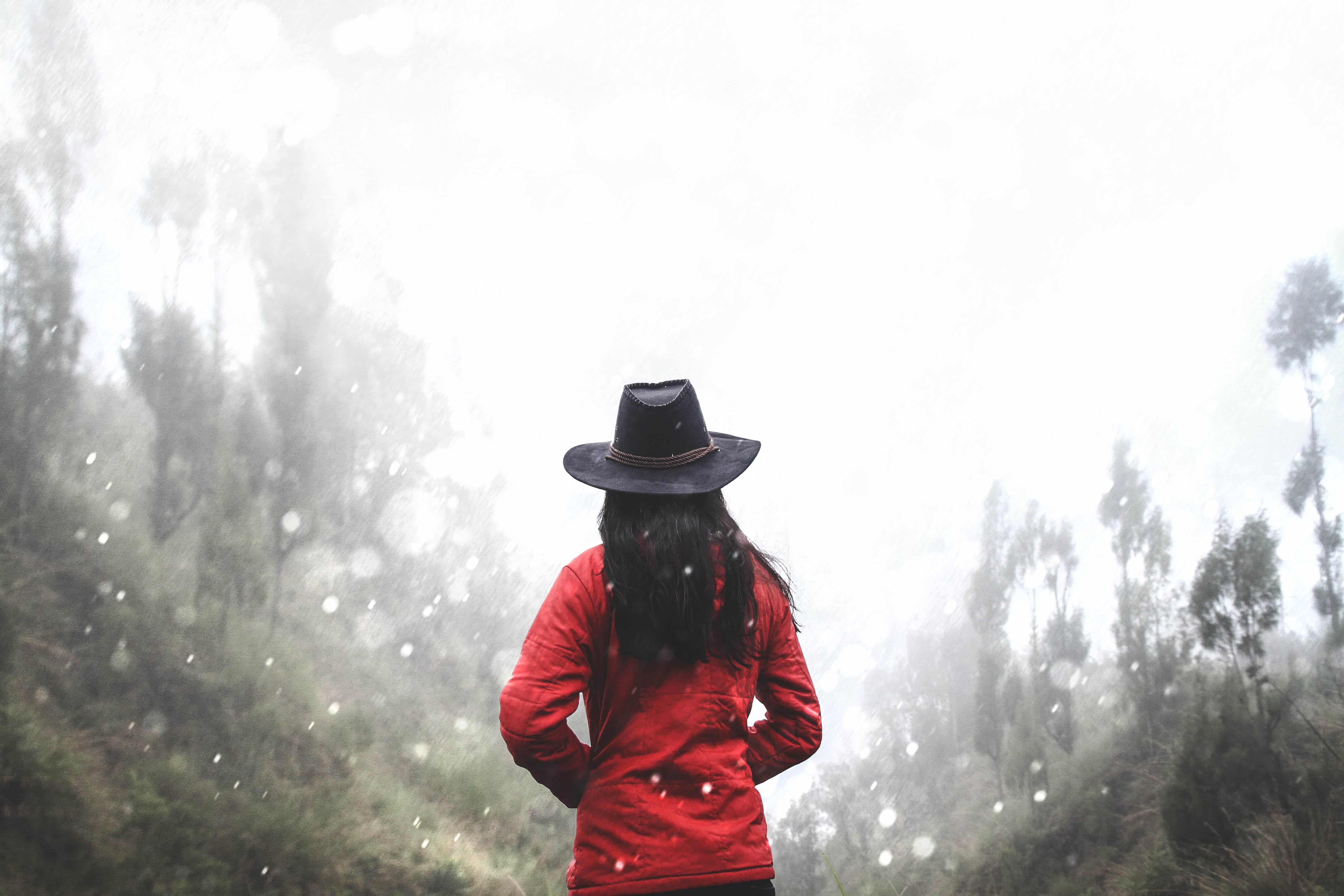 Woman in Full Brim Hat