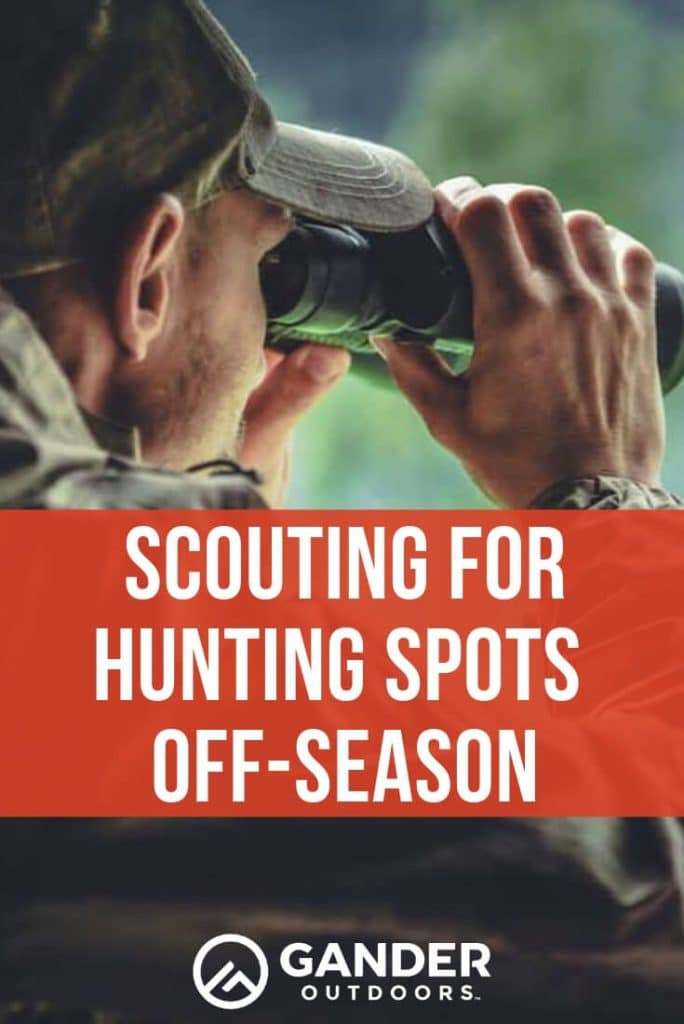 Scouting for hunting spots off season