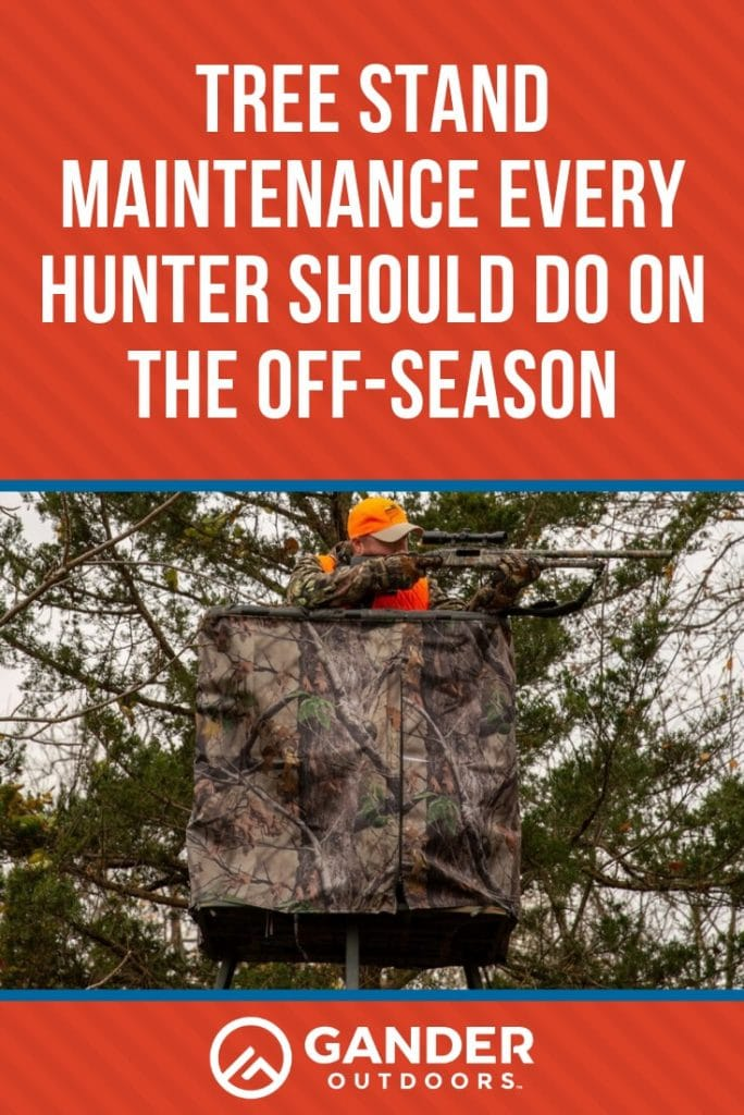 Tree stand maintenance every hunter should do in the off-season
