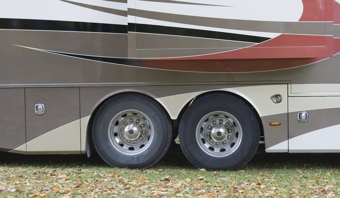 RV tires on a motorhome