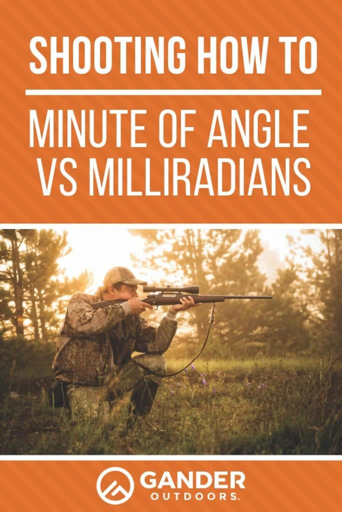 Minute of angle and milliradians