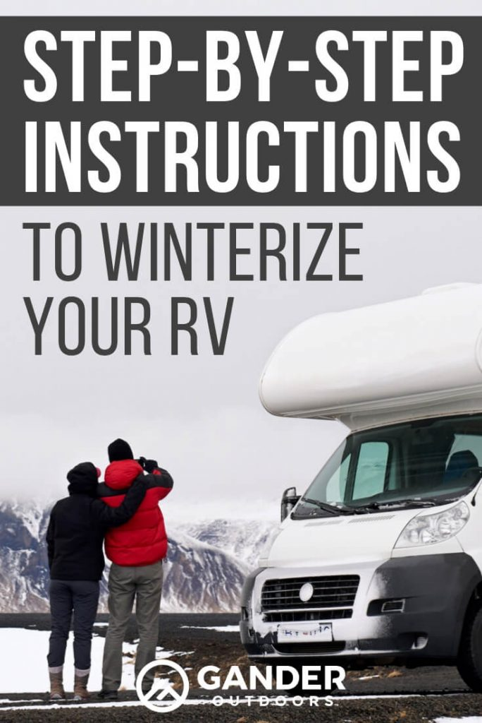 Step by Step instructions to winterize your RV