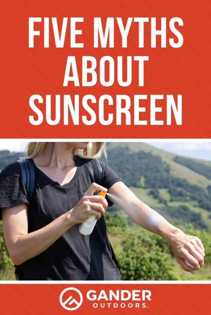 Five Myths about sunscreen