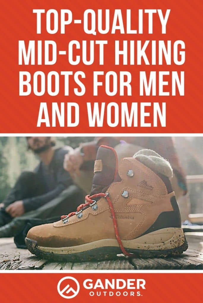 Top quality mid cut hiking boots for men and women