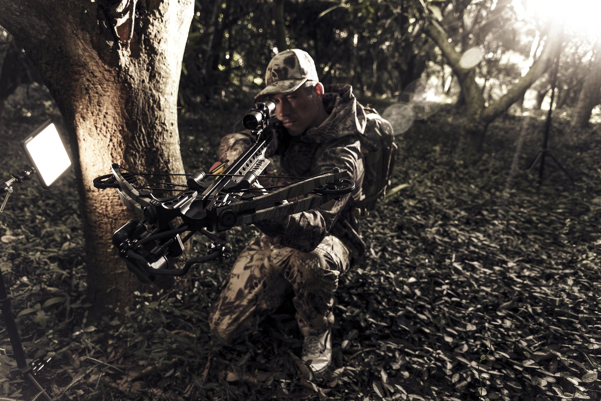Man in Camo with Crossbow