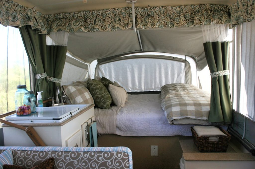 RV Pop-up interior