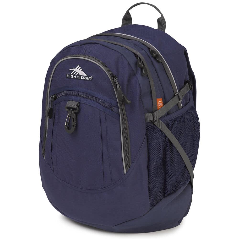 Large blue hiking backpack