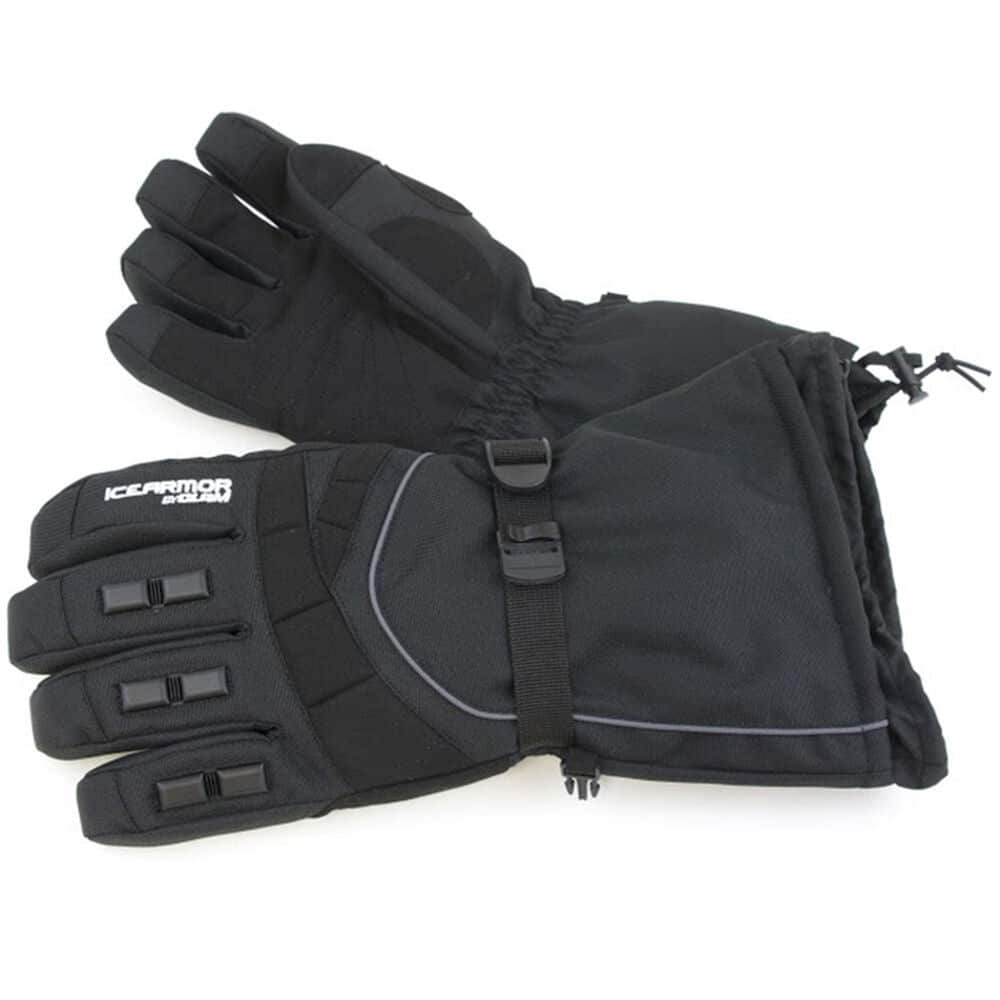 Black clam ice armor extreme winter ice fishing gloves