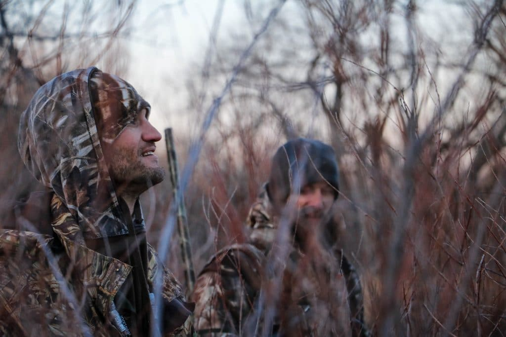 Hunters in the cold weather
