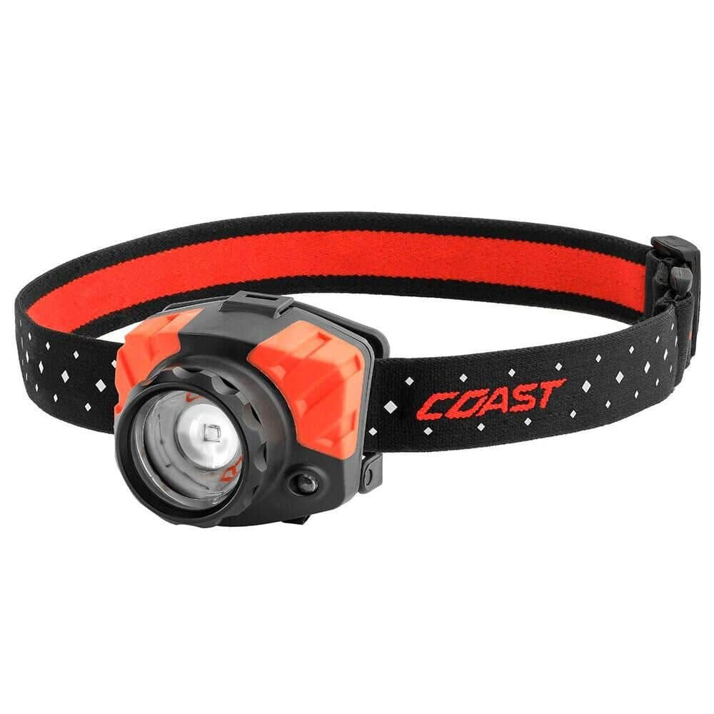 Black and orange headlamp