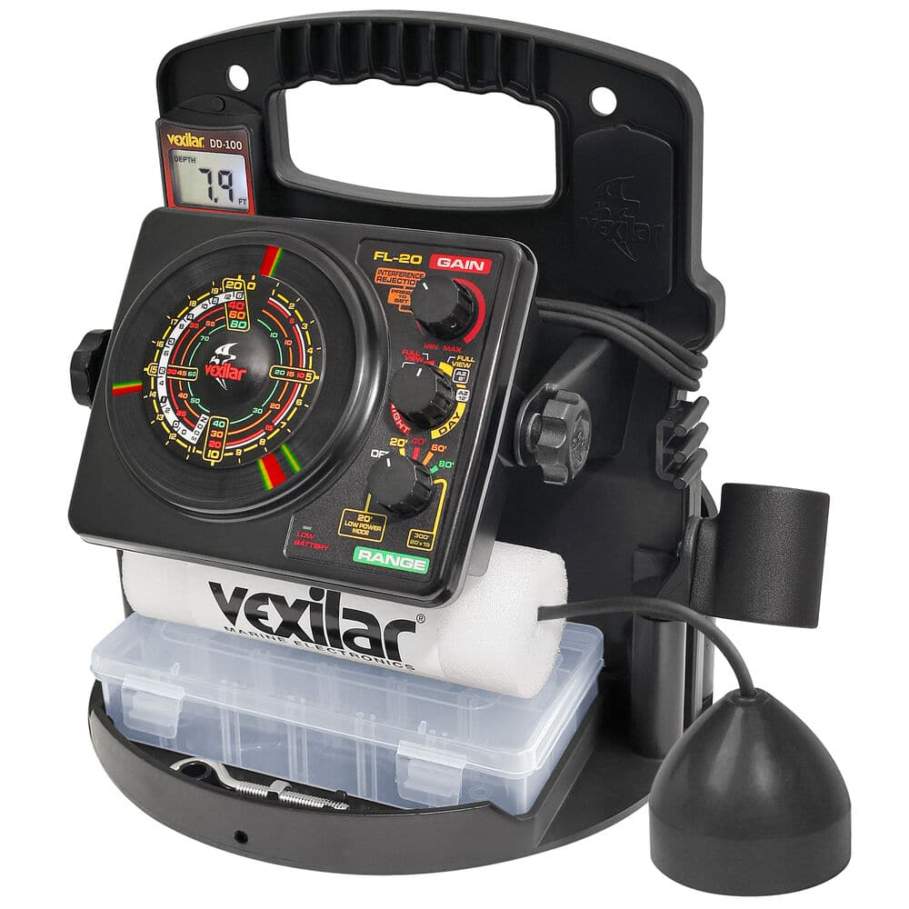 black vexilar ice fishing sonar system
