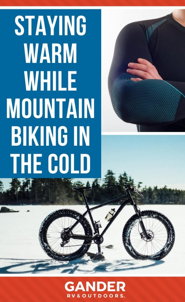 Staying warm while mountain biking in the cold
