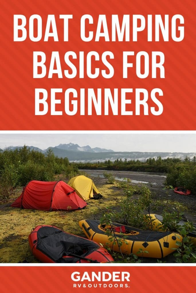 Boat camping basics for beginners