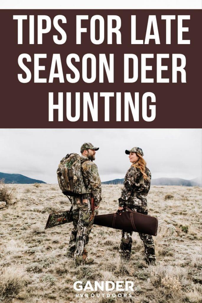 Tips for late season deer hunting