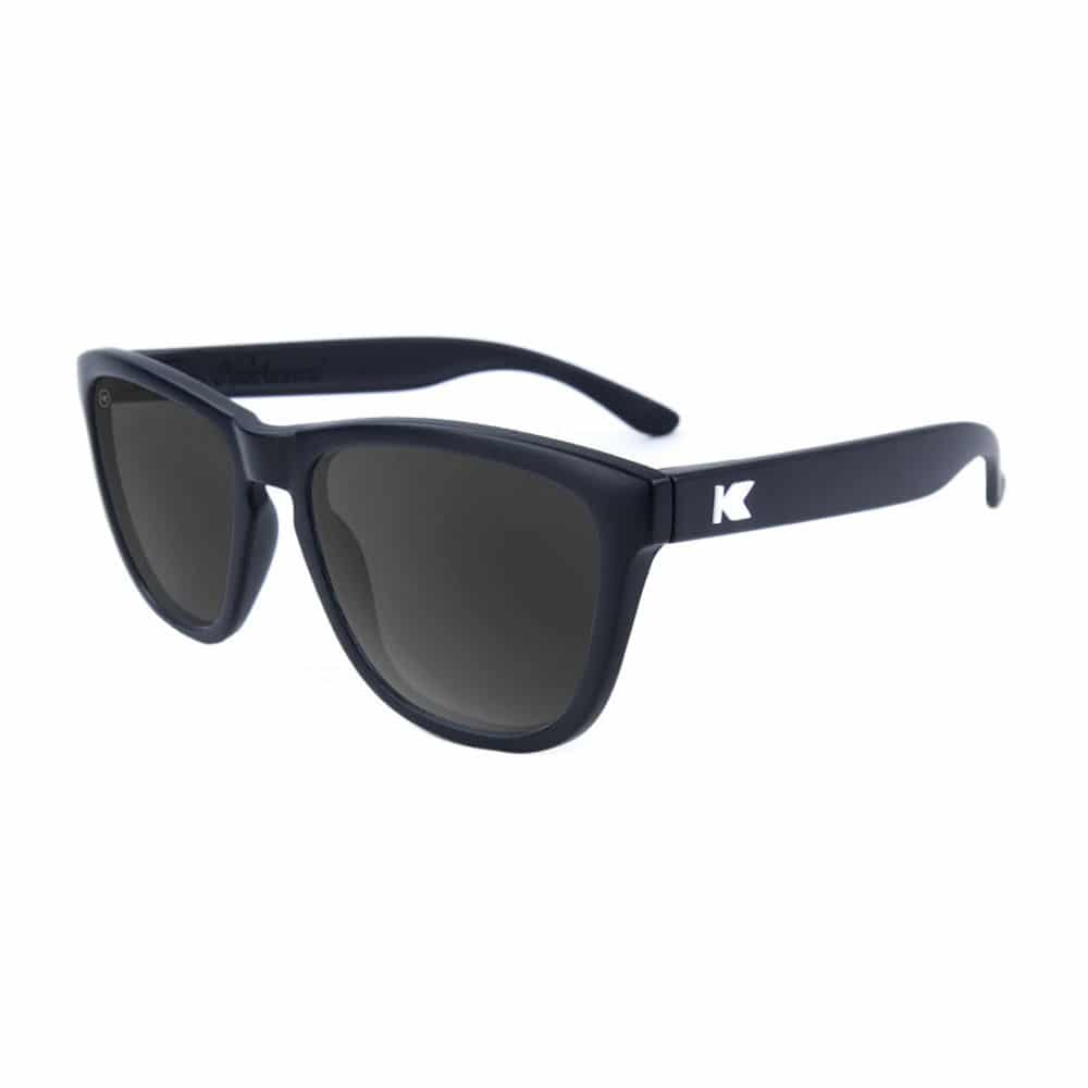 Black knockaround sunglasses with black lenses