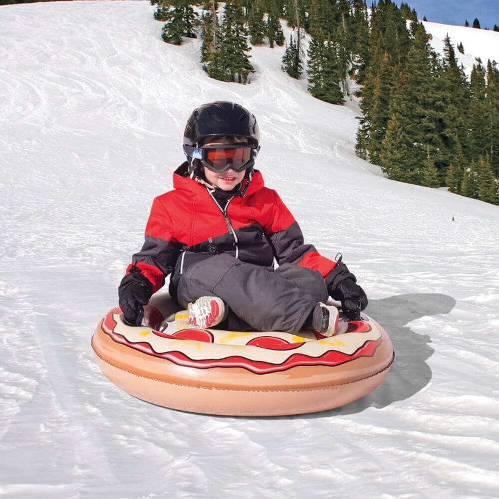 Why a Snow Tube Can Make More Sense Than a Sled - sportsstuff pizza PC Camping World