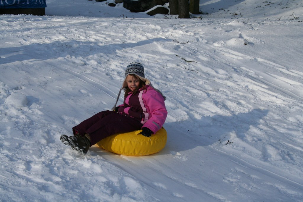 why a snow tube can make more sense than a sled - more comfortable PC Familotel Borchard via Flickr