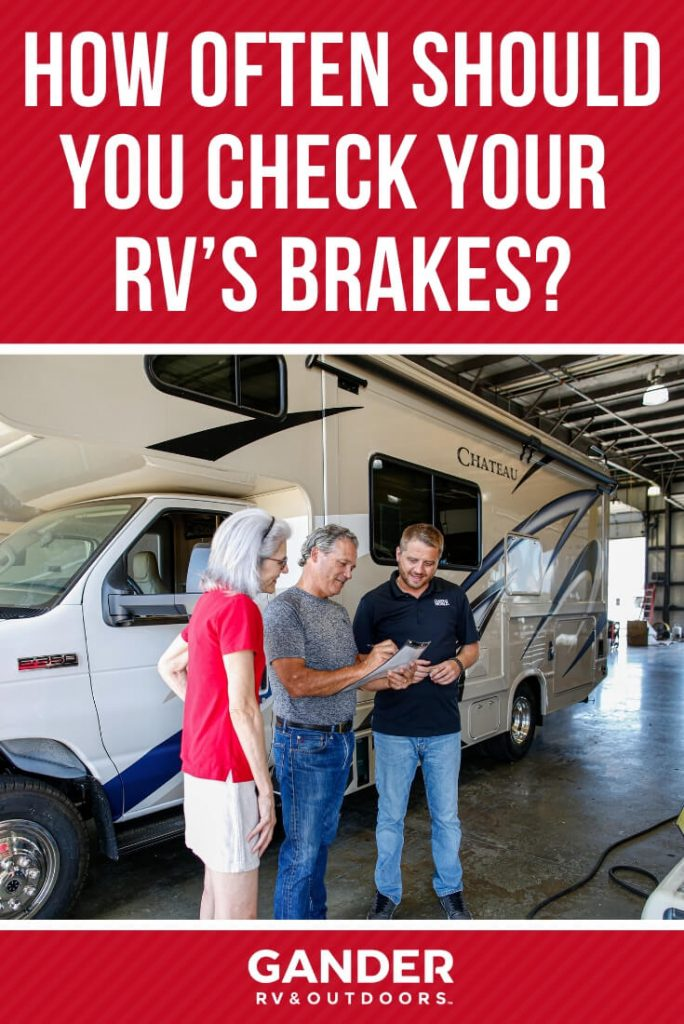 How often do I need to check my RV's brakes?