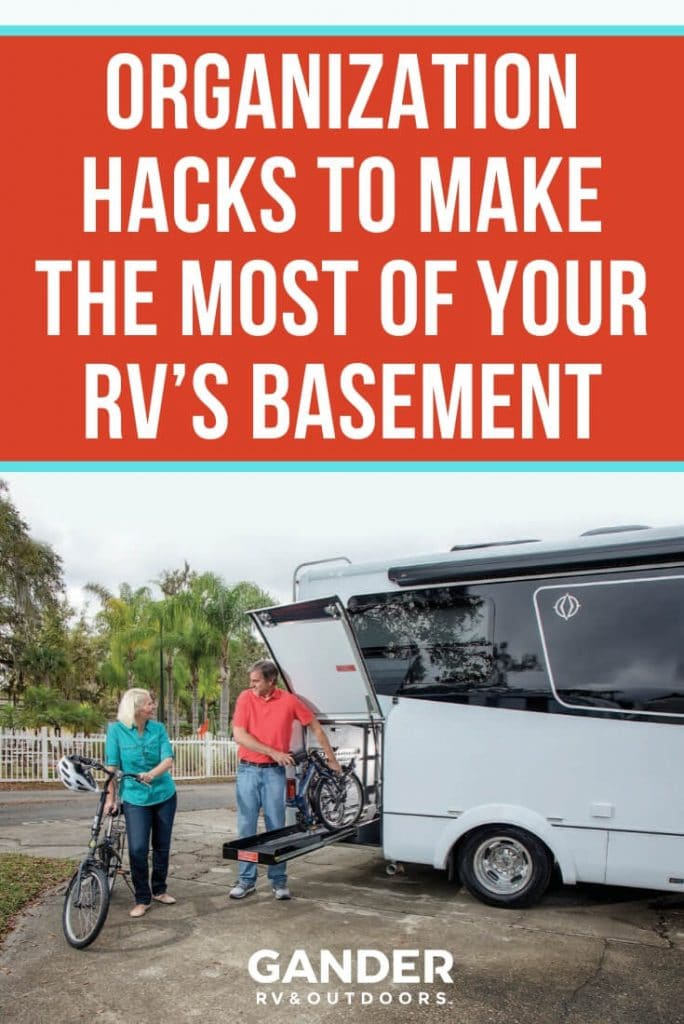 Organization hacks to make the most of your RV's basement