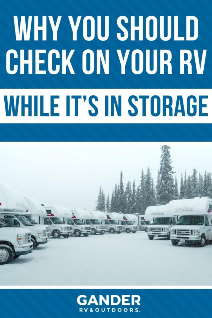 Why you should check on your RV while it's in storage