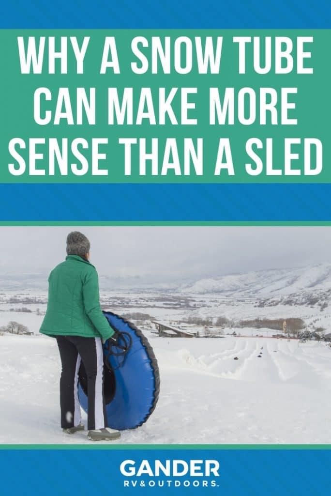 Why a snow tube can make more sense than a sled