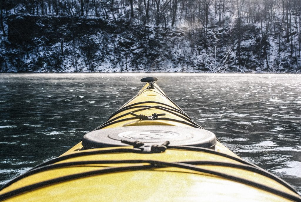 Paddling at Fort Dickerson quarry in Knoxville, Tennessee