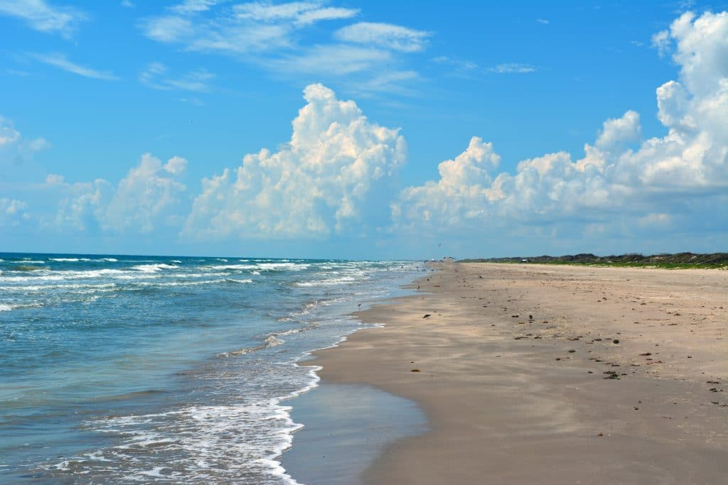 Padre Island Seashore on a sunny day