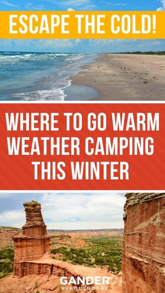 Escape the cold - where to go warm weather camping this winter