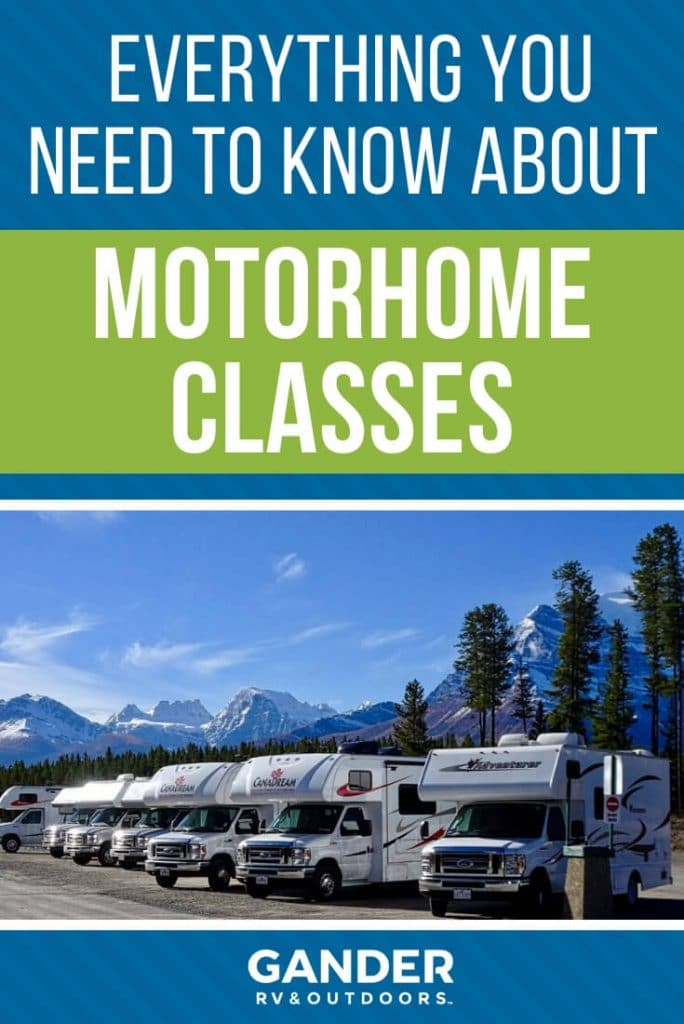 Everything you need to know about motorhome classes