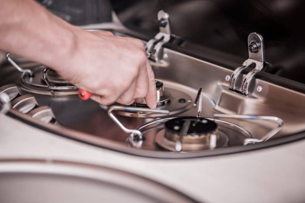 motorhome stove
