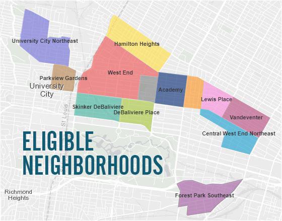 eligible neighborhoods map Forgivable Loans