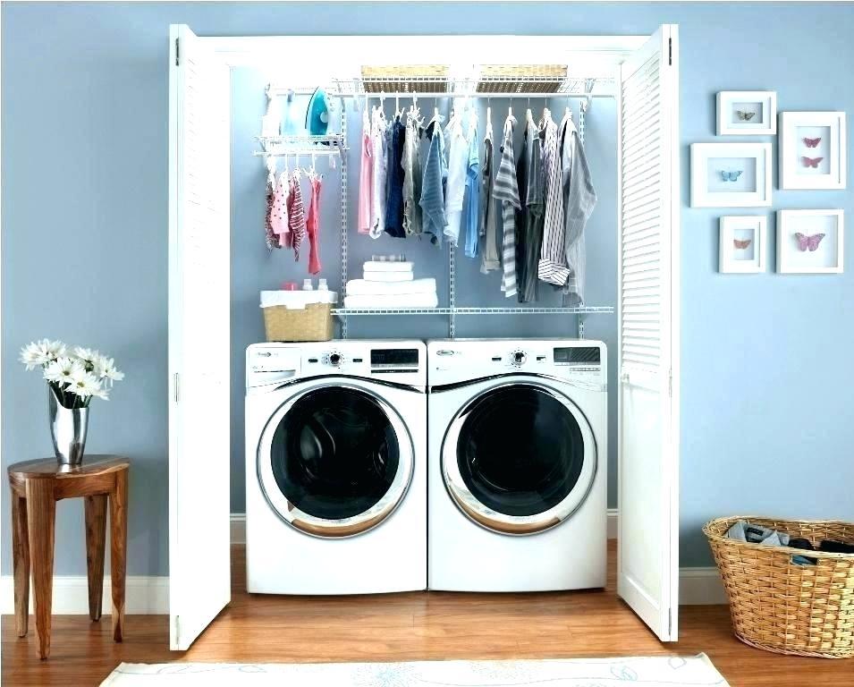 laundry tucked into a closet
