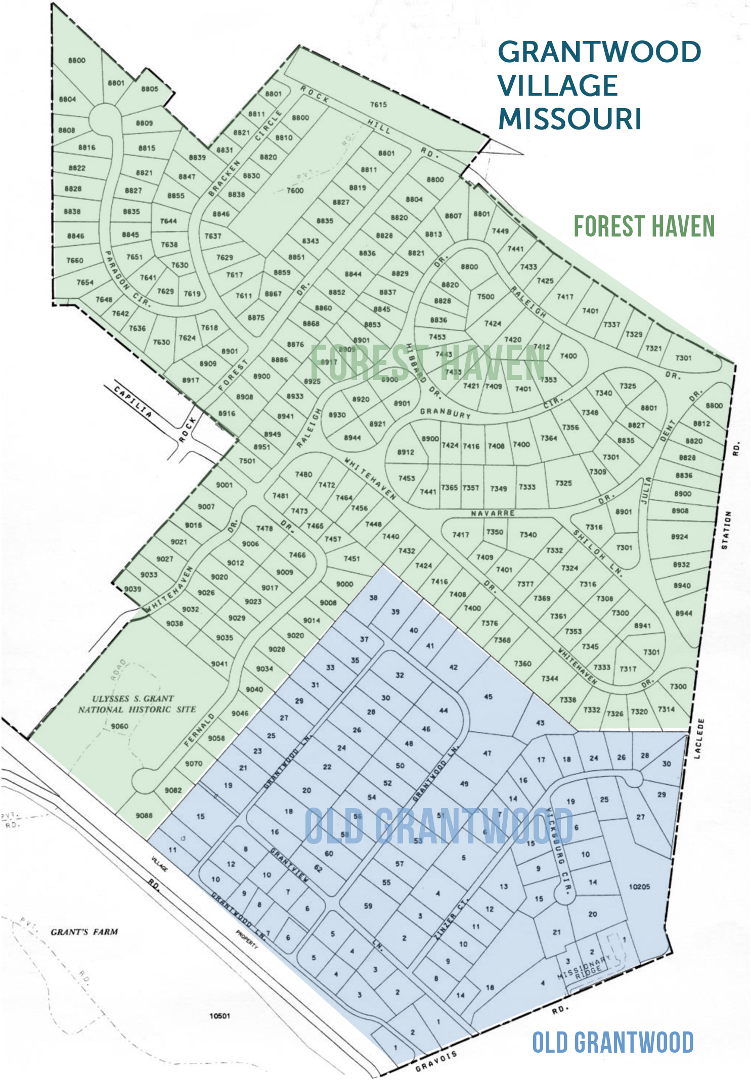 Grantwood Village Map