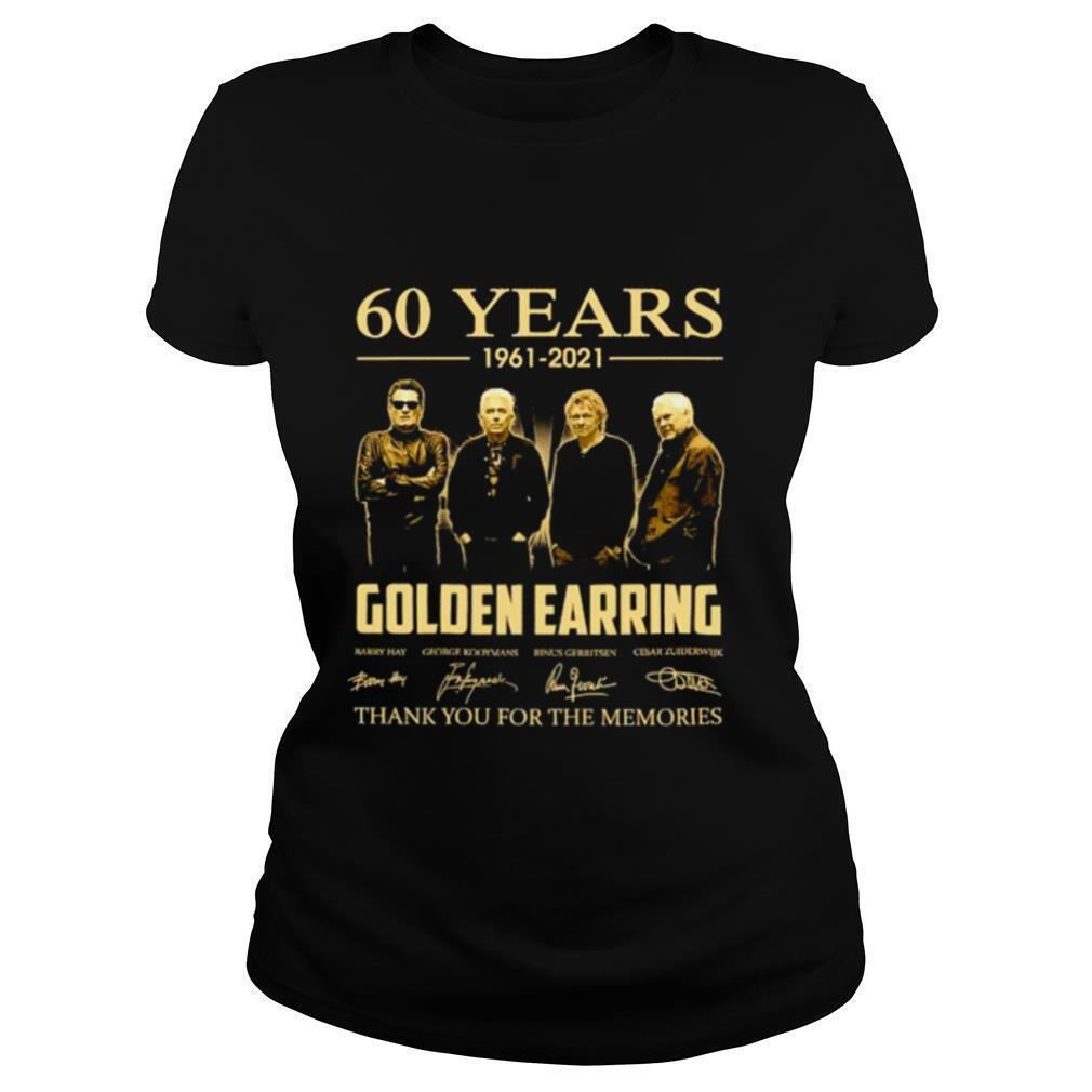 The Bee's Knee T-shrirt 60 Years 1961 2021 Golden Earring Thank You For The Memories Signatures So Epic