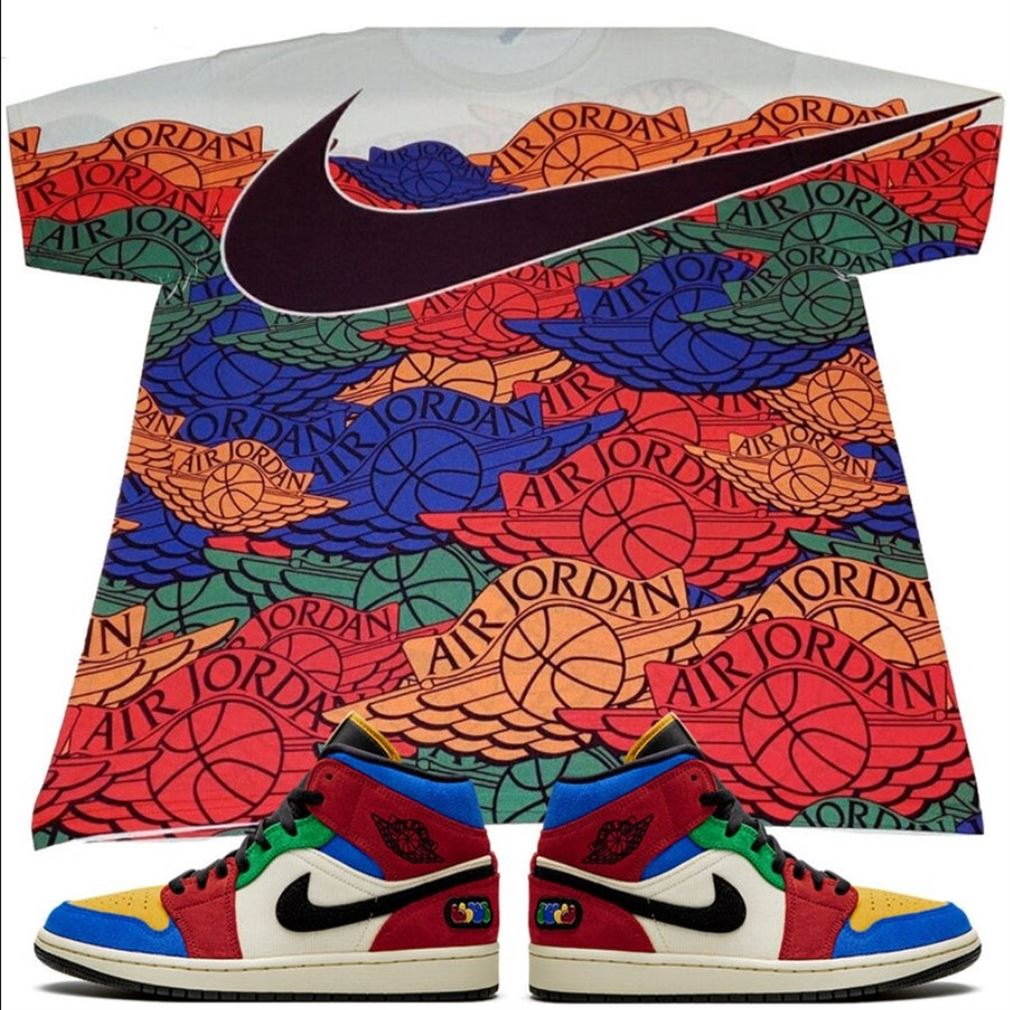 Terrific Tees Air Jordan 1 Mid Fearless Blue The Great T-shirt Multi Patent 1 Air Jordan 2 Retro T Shirt T-shirt To Match Your Brilliant T-shirt