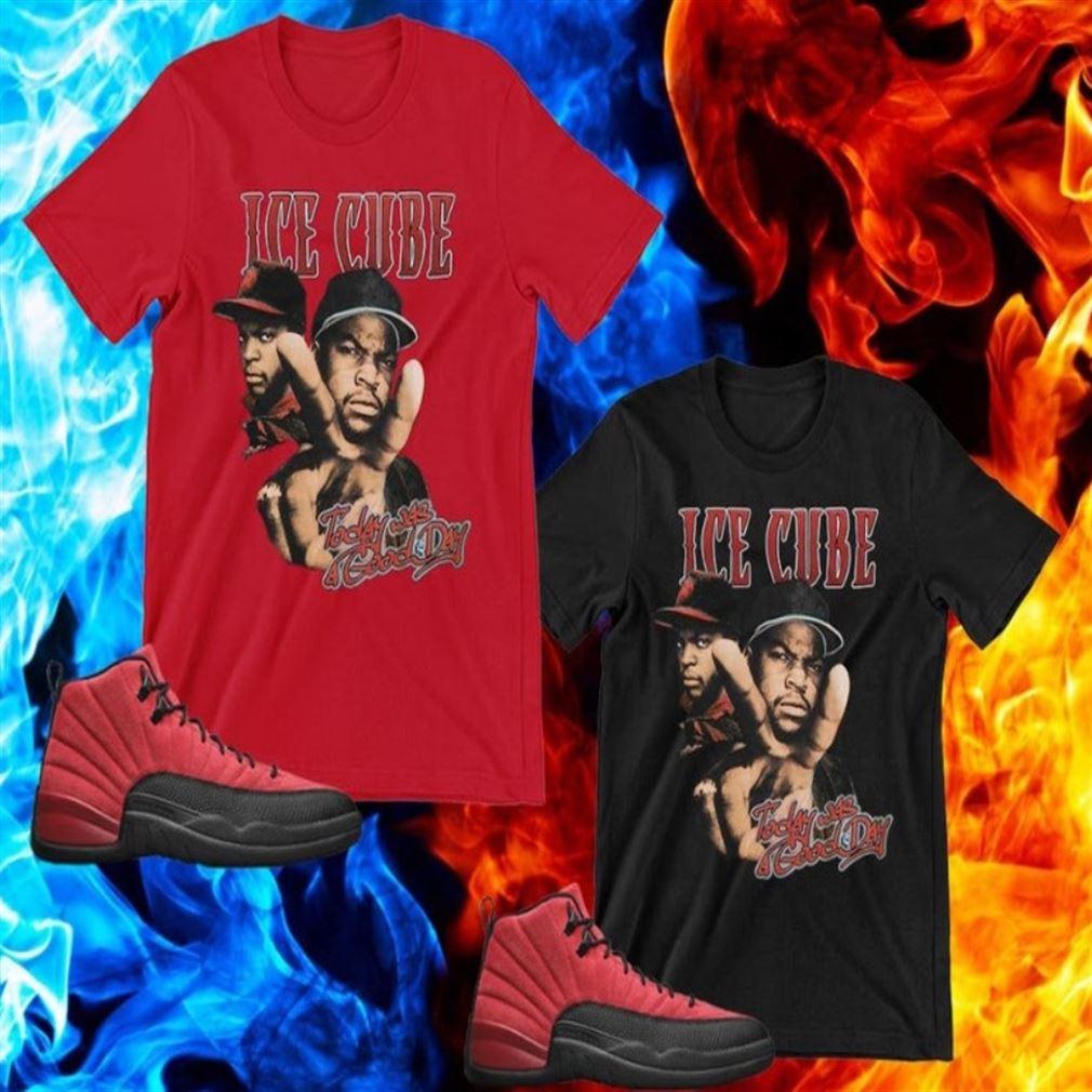 Terrific Tees Air Jordan 12 Reverse Flu Game Sneaker Shirt S To Match Ice Cube T Shirt Today Was A Good Day Shirt American Rapper New 2021