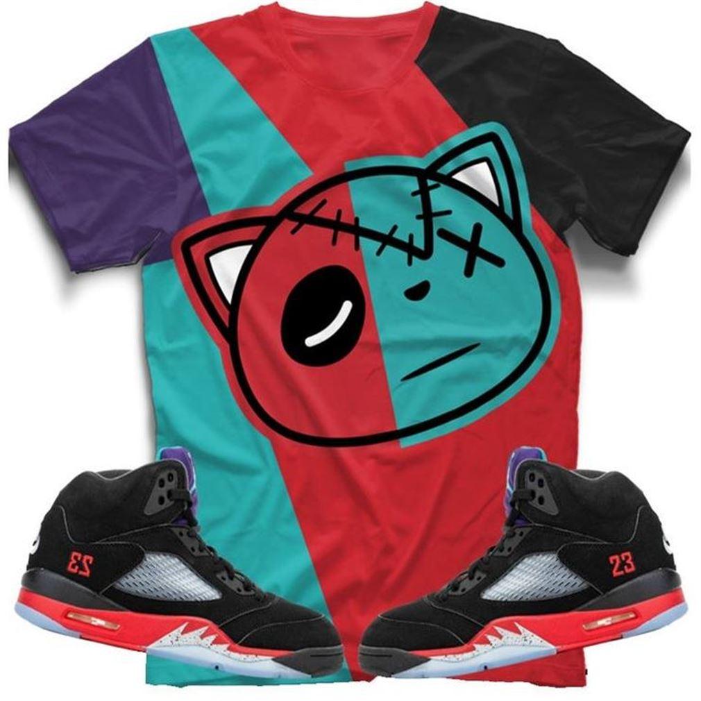 Terrific T-shirt Air Jordan 5 Retro Top 3 Sneaker Tee All Over Print Tee So Beautiful